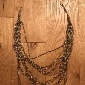 Fun, Long, Gold Layered Necklace EUC
